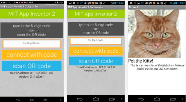 App-Inventor-and-MIT-AI2-Companion-combination